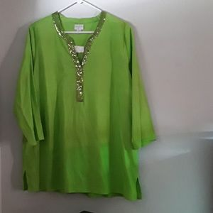 Jaclyn Smith Collection Sequin Top XL/EG
